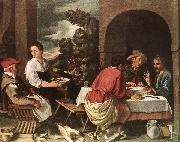 ORRENTE, Pedro The Supper at Emmaus ag oil painting